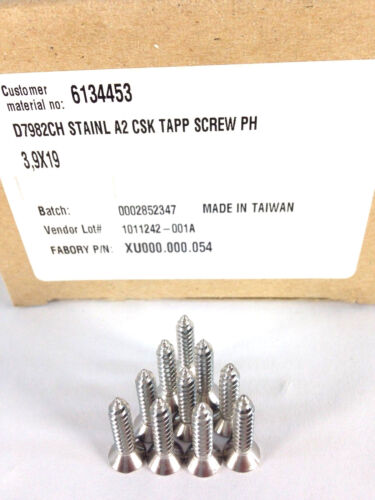 """Lot 500 Screws 3//4/"""" 19mm A2 Stainless Steel Self Tapping Countersink Phillips"""