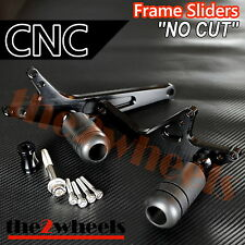 CNC Frame Sliders (No Fairing Cut) for Honda CBR500R / CBR400R (2013-2015)