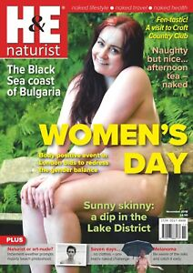 H&E naturist November 2018 magazine nudist health efficiency  9770017888120