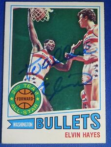 ELVIN-HAYES-HOF-signed-autograph-1977-78-Topps-trading-cards-Washington-Bullets