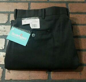 Knightsbridge-Black-Flat-Front-Casual-Pants-Men-039-s-Size-38-x-30