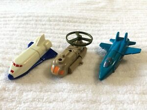 Lot of 3 Vintage 1985 Transformers Gobots - Guide Star, Breez, Sky Fly - Wendy's