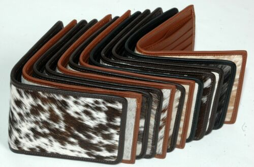 100% Real Cowhide Leather Gents Biifold Wallet (12 Wallets Set) Mb-8