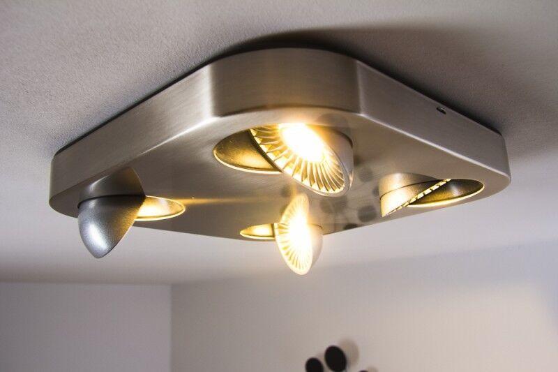 Plafoniera Quadrata E27 : Led plafoniera quadrata lampada da soffitto design metallo