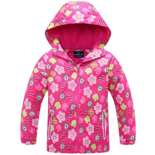 Kids Baby Girls Hoodies Hooded Jacket Coat Autumn Winter Warm Padded Outerwear