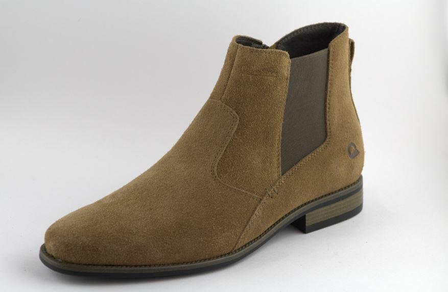 Men's Khaki Leather Fashion Boot, zip Chelsea Ankle Boot Sizes