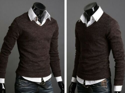 Cardigan V-neck Trendy Men/'s Knitted Sweater Jumpers Knitwear Pullover Fitted
