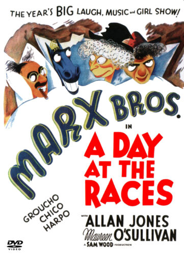 Marx Bros A day at the races vintage movie poster print