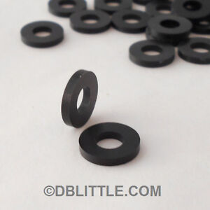 500-PREMIUM-Black-Nylon-10-Washers-for-Rack-Screws-amp-fasteners-6-6-Polyamide