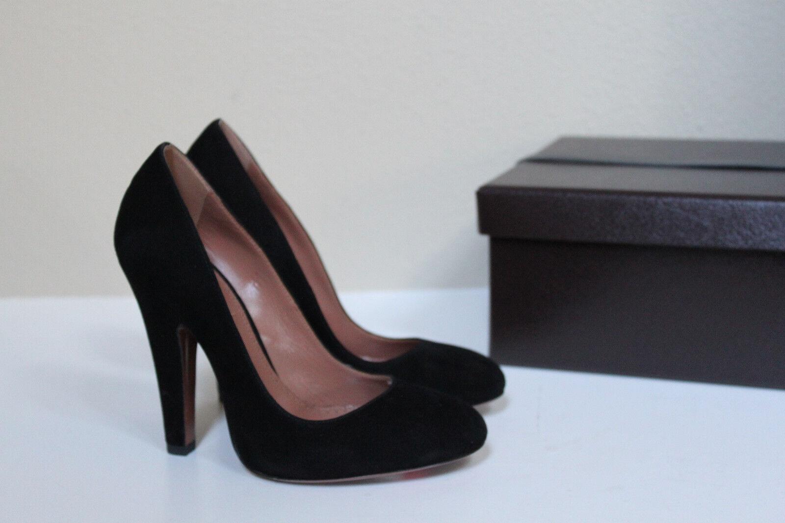 Nuevas Talla 7.5 37.5 37.5 37.5 Azzedine Alaia Gamuza Negra Plataforma Zapatos Tacón Bomba Clásico  aquí tiene la última