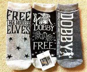 Harry Potter Socks x 3 Dobby the House Elf Pairs Ladies Women's Primark