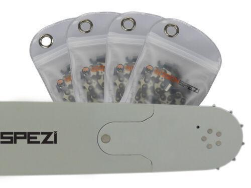 """4 Ketten passend für Dolmar PS6400 70 cm 3//8/"""" 93 TG 1,5 mm Sägekette Schwert"""