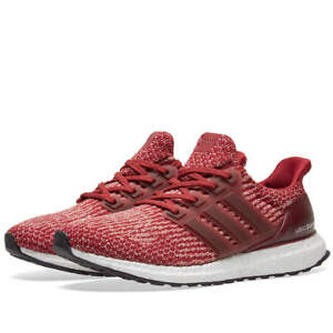 NEW Adidas Ultra Boost 3.0 Burgundy UK Size 8 Mens Trainers + FREE ... 904736295