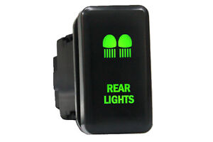 Green-LED-Rear-Light-Push-Switch-Toyota-Landcruiser-Prado-120-Hilux-Highlander