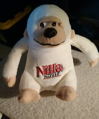 "Nilla Wafers Gorilla Plush Bean Promo Animal Toy 6/"" MINT NEW"