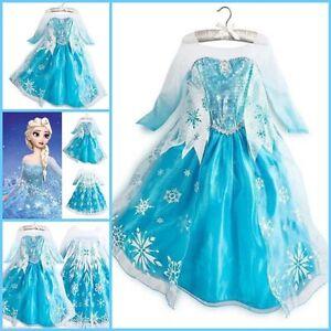 Robe de princesse la reine des neiges elsa d guisement frozen dress fancy ebay - Robe elsa reine des neiges ...