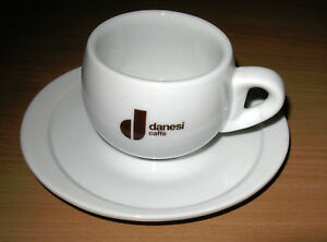 Details about Danesi Caffe Advertising Coffee Cappuccino Espresso Cup & Saucer 6 oz