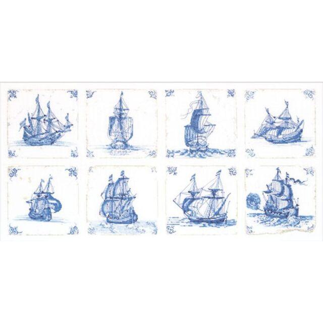 """THEA GOUVERNEUR  482  Antique Dutch Tiles  /""""Delft Blue/""""   Point de Croix  Compté"""