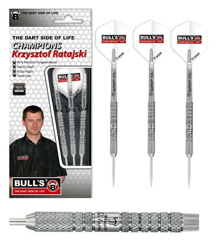 Bull's Dart Dart Dart - Champions Krzysztof Ratajski 20g (Steel Dart) 3 Dartpfeile NEU 5ebfa7