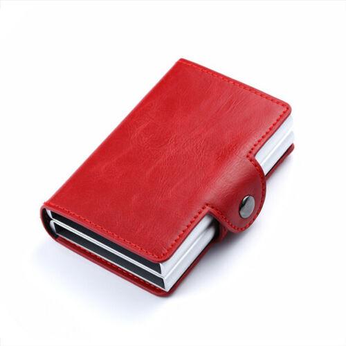 Bisi Goro Business Credit Card Holder Metal Leather Travel Wallet Men Women Gift