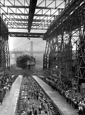 8x10 Print Launching of USS Iowa New York 1942 #2508