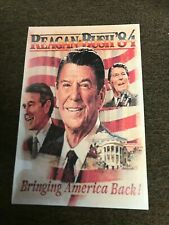 Original 1984 Ronald Reagan President George Bush Campaign Flyer The Time is Now