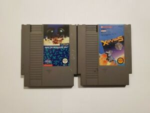 """""""Raid on Bungeling Bay"""" and """"Xevious"""", two games for NES (Two cart lot!)"""