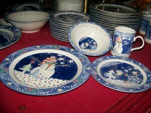 4-pc-Noritake-Epoch-Collection-MR-SNOWMAN-EXCELLENT