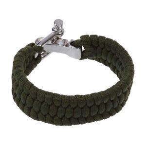 7-Strand-survie-Weave-militaire-Bracelet-cordon-Buckle-Vert-B2E2