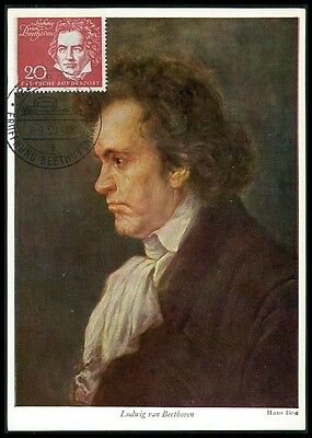 Topical Stamps Systematic Brd Mk 1959 317 Beethoven Composer Maximumkarte Carte Maximum Card Mc Cm Be07 Regular Tea Drinking Improves Your Health