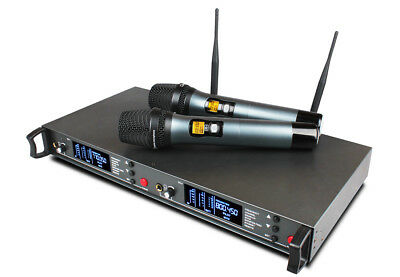 uhf pro fm wireless microphone system for stage performance live vocals theater 699905634863 ebay. Black Bedroom Furniture Sets. Home Design Ideas