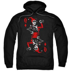 Details about BATMAN HARLEY QUINN OF DIAMONDS Adult Pullover Hooded Sweatshirt Hoodie SM 5XL