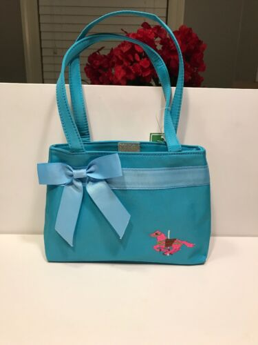 Little Girl's Blue Purse or Tote With Pink Carousal Pony