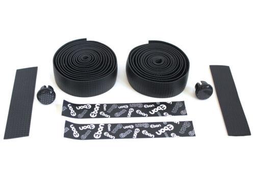 Handlebar Handle Bar Tape Black Carbon Fibre Pattern Self Adhesive ROAD BIKE