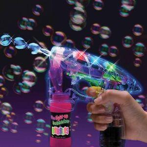 Bubble Ray Gun Fun s'allume en plein air clignotant Led Machine Machine Jouet Jardin Extérieur
