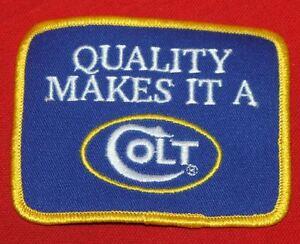 COLT-FIREARMS-FACTORY-Quality-Makes-IT-A-Colt-Patch-1996