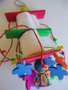 DICKY-BIRD-TOYS-LOOFAH-PUPPET-PARROT-TOY-FREE-POSTAGE-ALL-ORDERS-50