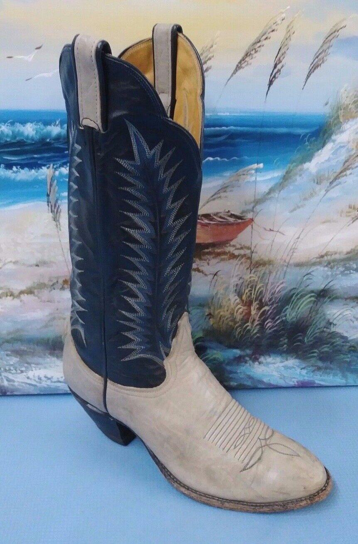 Tony Lama homme en cuir marron cowboy bottes sz 7 style 1747