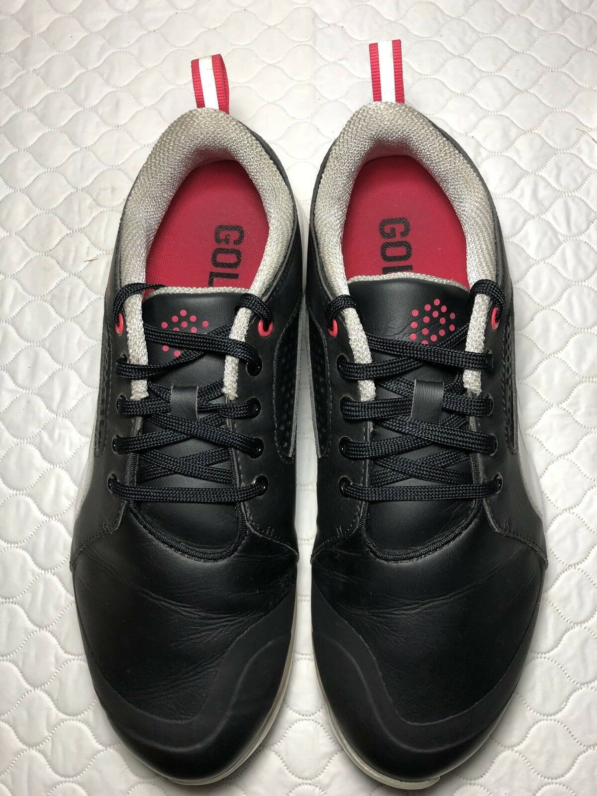 Puma Golf Women's Black Leather Athletic Sneakers  Comfortable Wild casual shoes