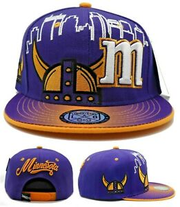 Minnesota New Leader Horned Helmet Skyline Vikings Purple ...