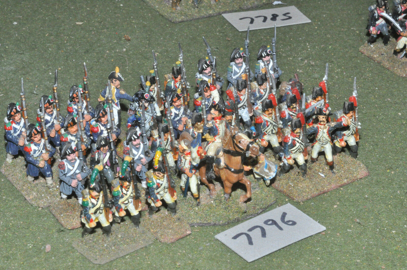 25mm napoleonic   french - revolutionary war infantry 36 figs metal - inf (7796)