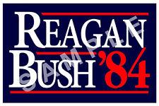 BUSH 12x18 POSTER PRESIDENT CAMPAIGN AD RONALD REAGAN 1984 /'84 6 GEORGE H.W