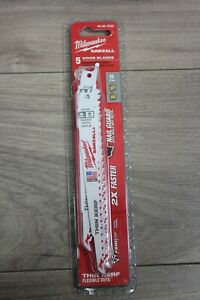 Milwaukee-Sawzall-5-Wood-Blades-48-00-5035