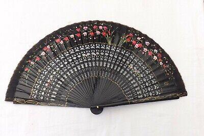 Acquista A Buon Mercato Vintage Hand Held Fan Fiori Dipinti A Mano In Legno/costruzione Di Seta (f28)-mostra Il Titolo Originale Aspetto Elegante