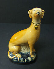 """ANTIQUE STAFFORDSHIRE TYPE POTTERY """"GREYHOUND"""" FIGURAL BOOKEND, c. early 1900's"""
