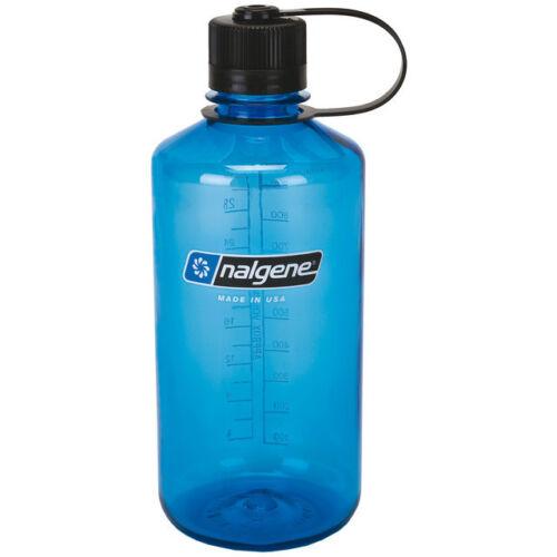 NALGENE 1l Narrow Mouth Trinkflasche Wasserflasche WATER BOTTLE  NO BPA BLAU