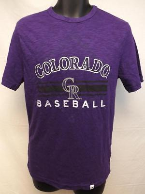 Herrlich Neu Colorado Rockies Herrengrößen S-m-l-xl-2xl Violett Majestic Shirt Sport