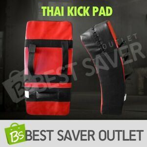 Thai Boxing Punch Focus Kick Pad Mitts Traing Hit Strike Shield Curved BK /&