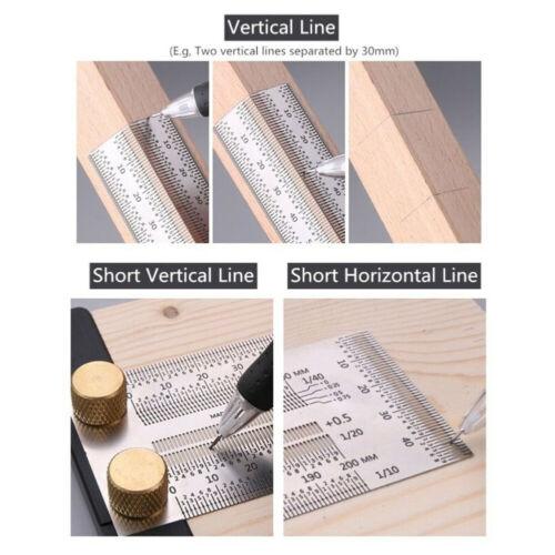 Ultra Präzision Markierung Maßband T Form Messen Klebeband Rulers Holz Working
