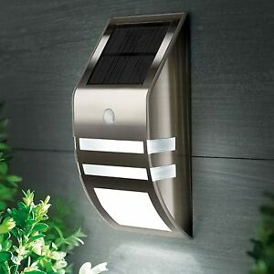 Outdoor garden lamp solar powered led security wall light spotlight image is loading outdoor garden lamp solar powered led security wall mozeypictures Images